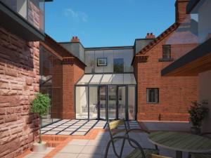 Bank Cottages Courtyard Alt