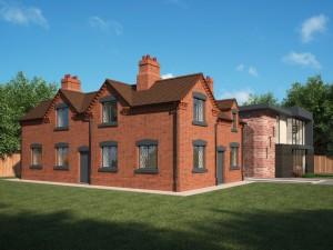 Bank Cottages Front Alt