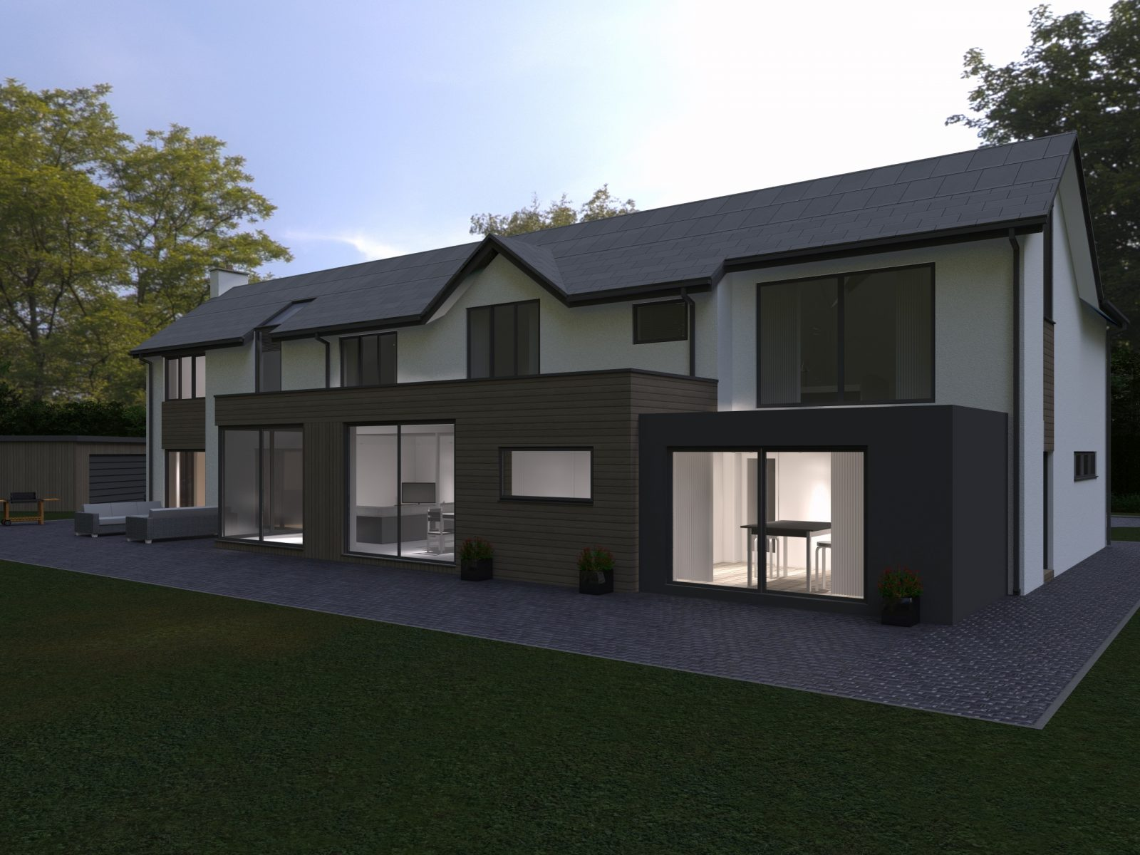 Proposed Rear View Brackenwood, Brocton - Lime Architecture