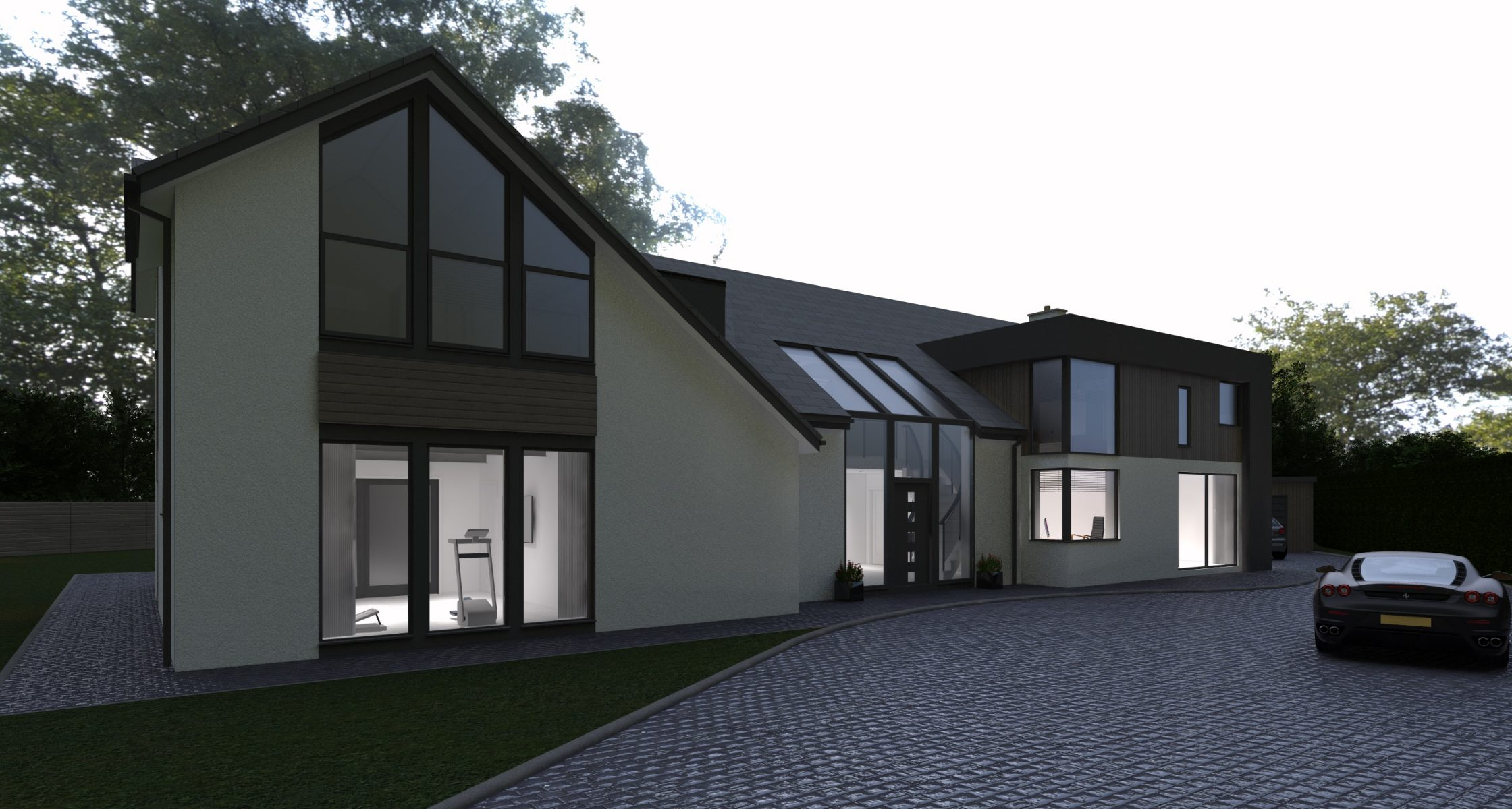 Proposed Front View Brackenwood, Brocton - Lime Architecture